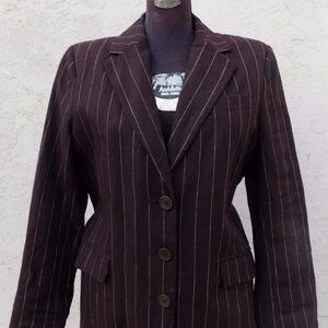 Isaac Mizrahi Blazer Pinstriped Zoot Jacket 14 New